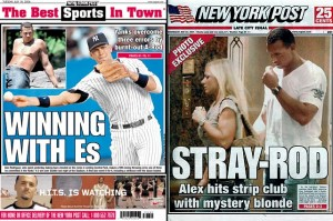 alex rodriguez ny post covers